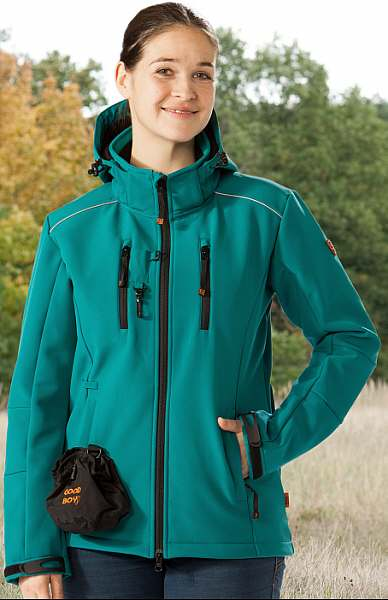 Damen Softshelljacke LUCY in petrol