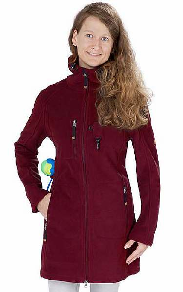 Damen Fleecejacke ELLA in merlot