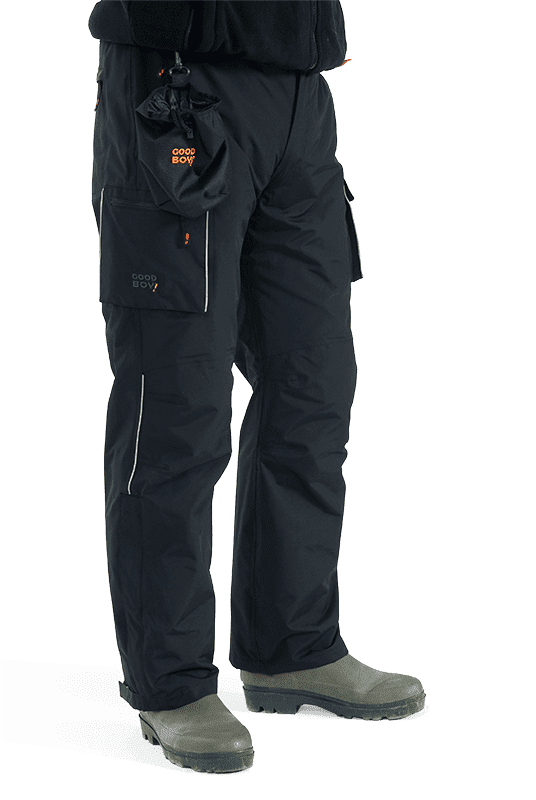 Herren Funktions-Regenhose PEPPER in schwarz