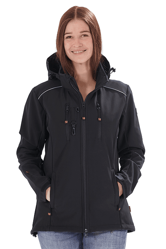 Damen Softshelljacke LUCY in schwarz