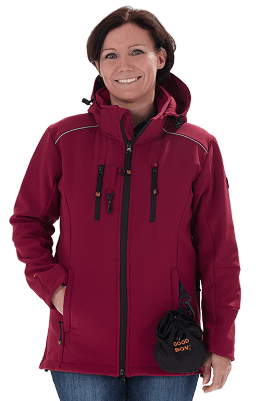 Damen Softshelljacke LUCY in bordeaux