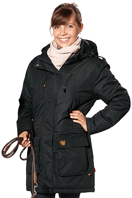 Damen Winter Kurzmantel LOTTI schwarz