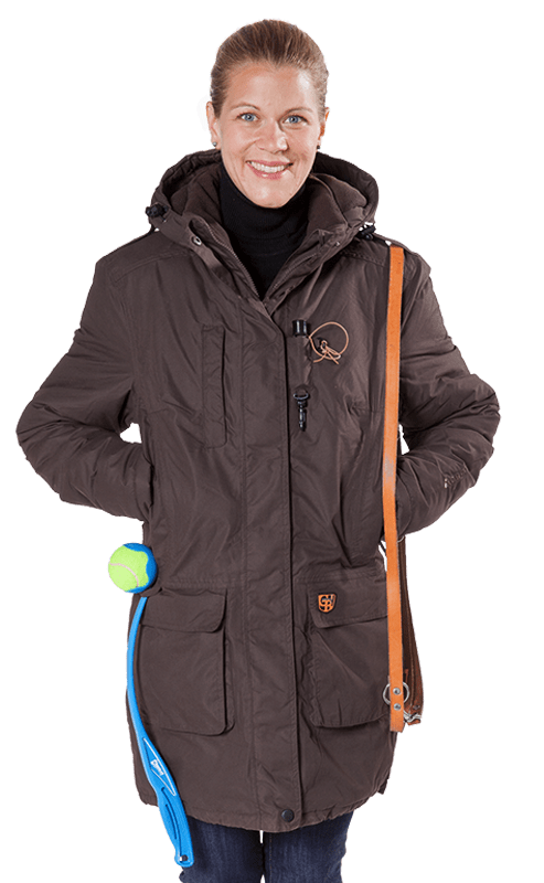 Damen Winter Kurzmantel LOTTI braun