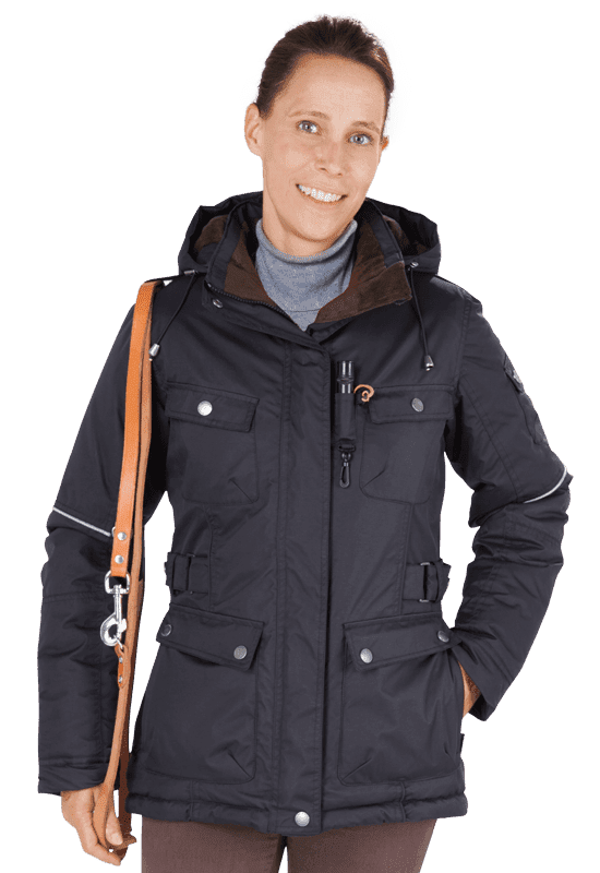 Damen Winterjacke MELLBY in schwarz