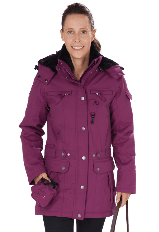 Damen Winterjacke DANA in pflaume