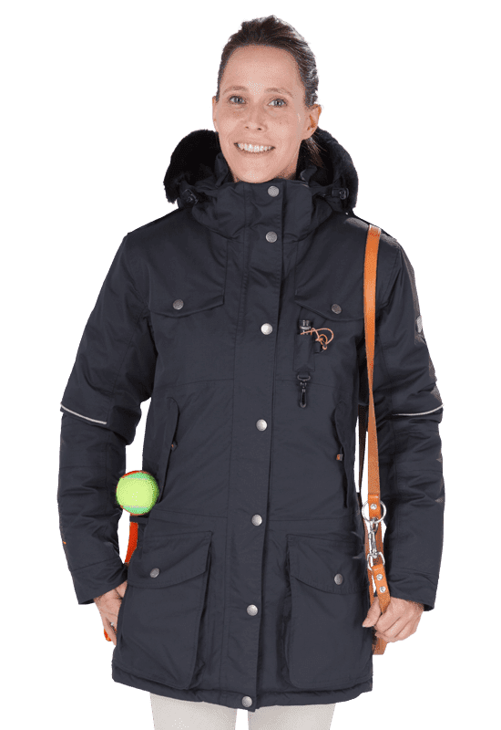Damen Winterjacke MARIBO in granit