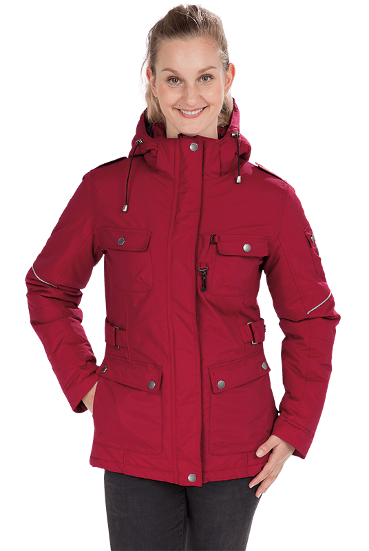 Damen Winterjacke MELLBY in bordeaux