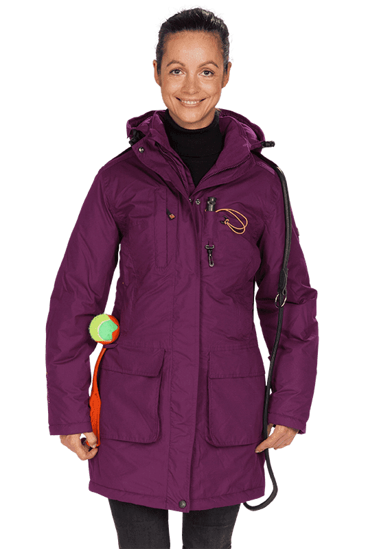 Damen Winter Kurzmantel LOTTI brombeer