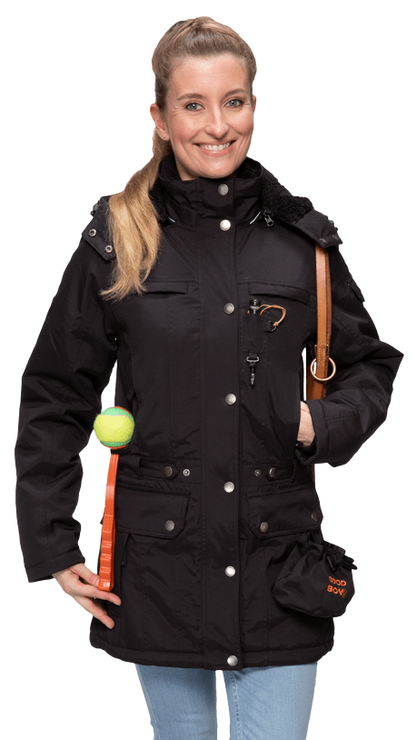 Damen Winterjacke DANA in schwarz