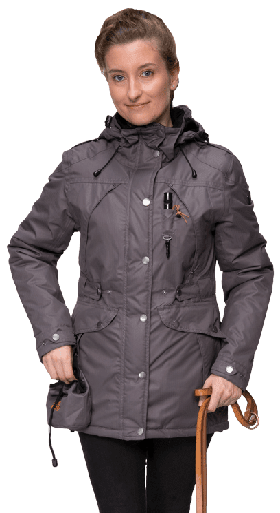 Damen Übergangs-Winterjacke BAMINA-schiefer