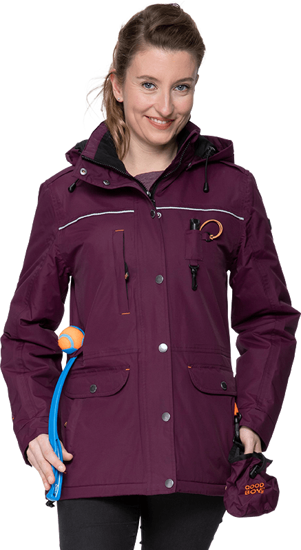 Damen Übergangs-Winterjacke CHARLY in brombeer