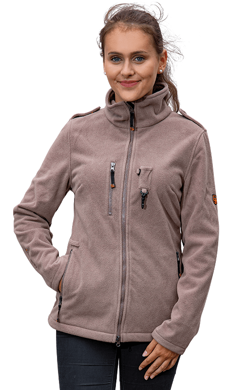 Damen Fleecejacke MORA in cappuccino